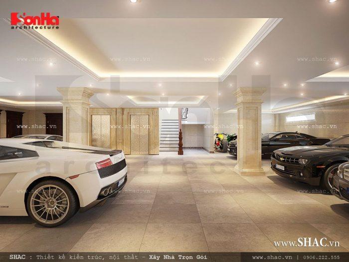 Khu vực gửi xe của khách sạn tiêu chuẩn 3 sao được thiết kế riêng biệt ở tầng hầm với diện tích rộng rãi