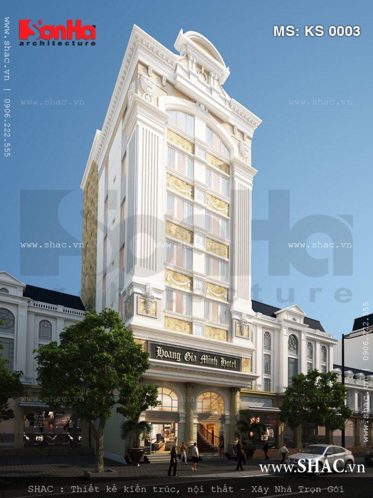 Khách sạn cổ điển 3 sao 7 tầng sang trọng