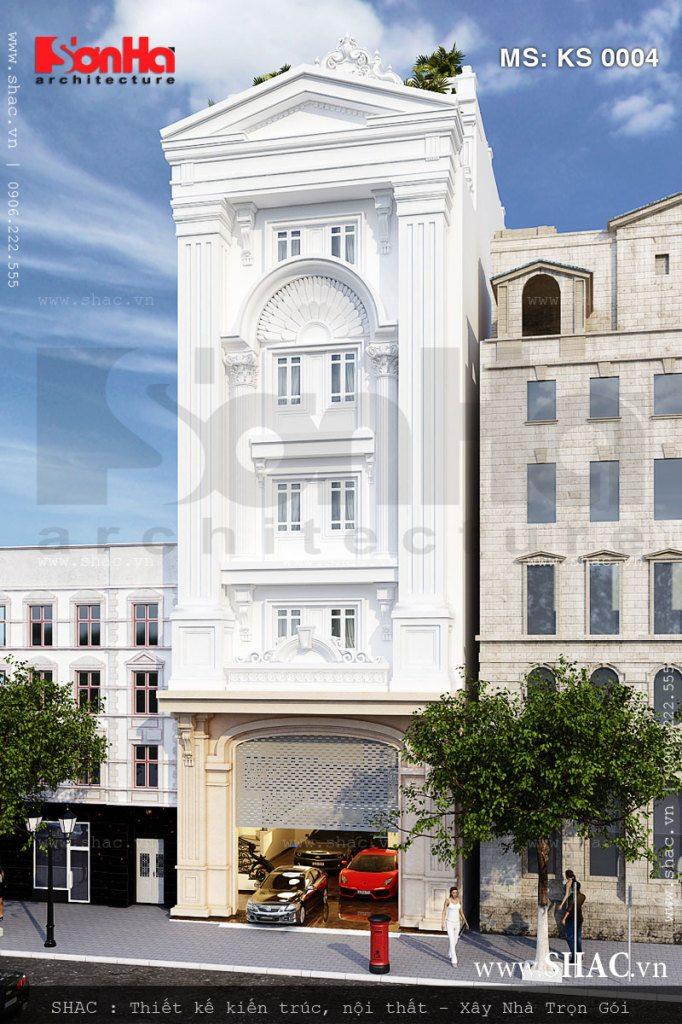 Thiết kế khách sạn 5 tầng