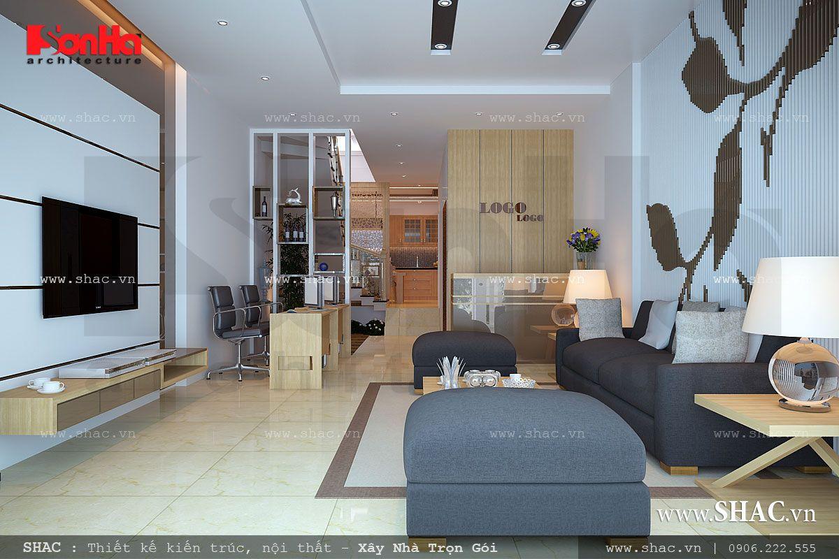 Thiết kế nhà ở kết hợp văn phòng công ty - NOD 0073 6