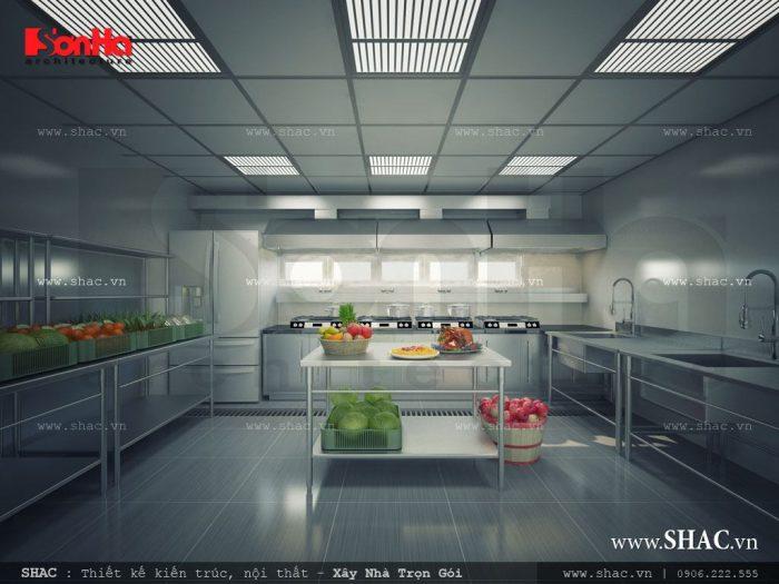 Phương án thiết kế khu bếp, chế biến và bày trí thức ăn cho khách sạn sạch sẽ, đảm bảo an toàn vệ sinh thực phẩm