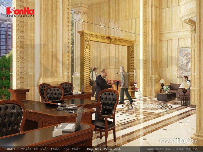 Khu sảnh và quầy lễ tân khách sạn