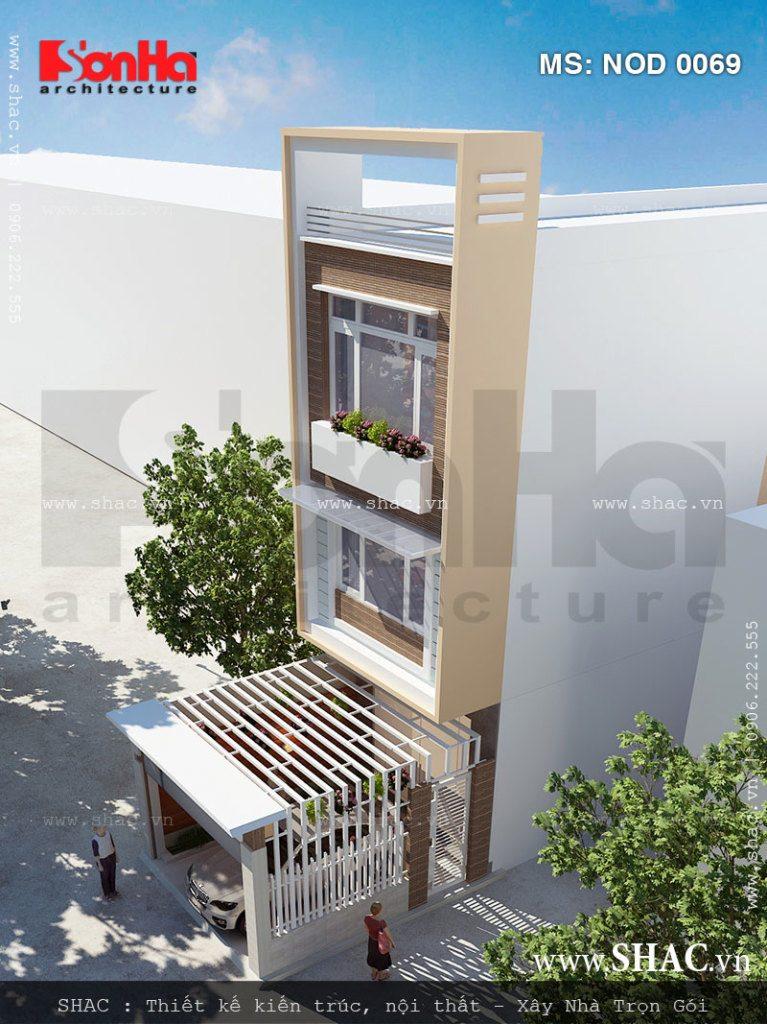 nhà lô phố 3 tầng hiện đại