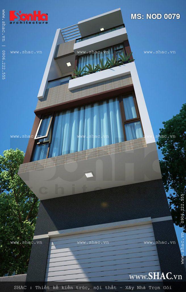 Nhà lô phố 5 tầng đẹp