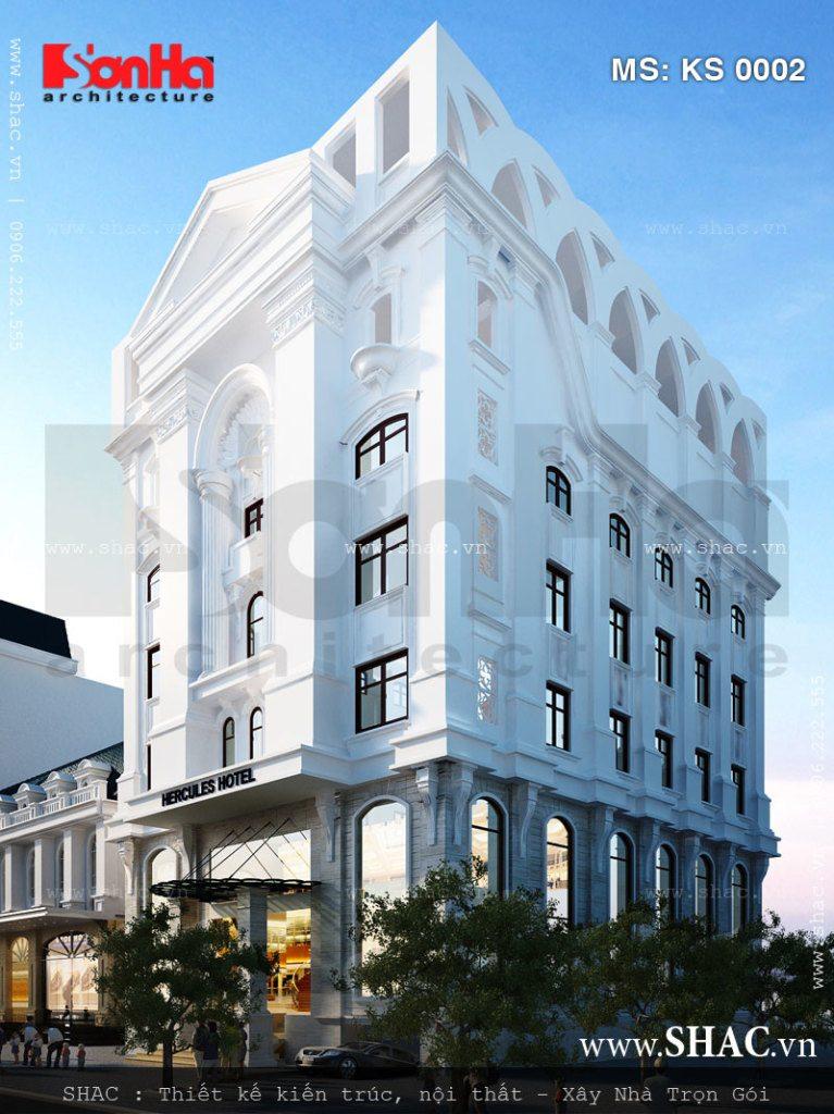 Kiến trúc khách sạn 7 tầng