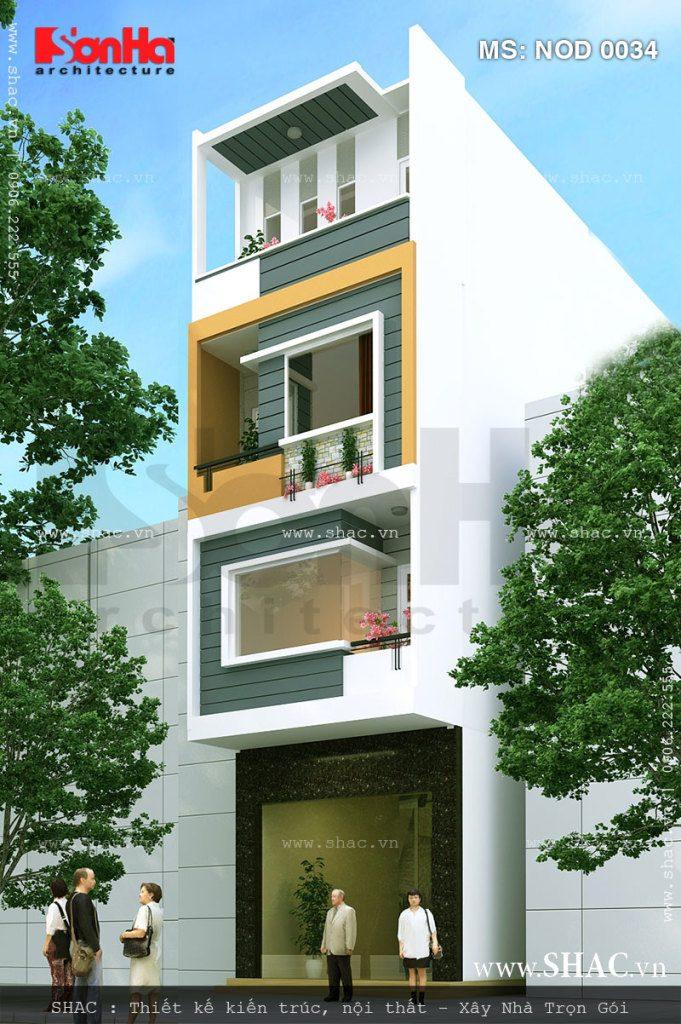 Kiến trúc nhà ống 4 tầng