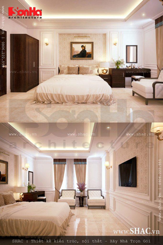 Thiết kế phòng ngủ mang đậm chất Châu Âu mang đến không gian riêng tư lãng mạn cho du khách
