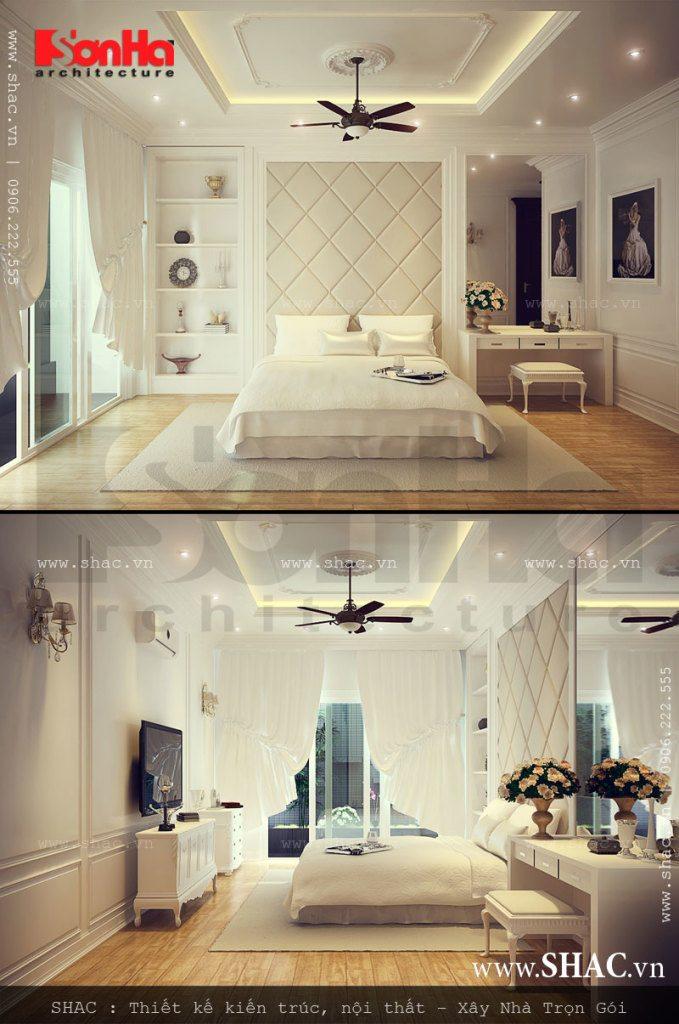 Thiết kế phòng ngủ trang nhã kiểu cổ điển