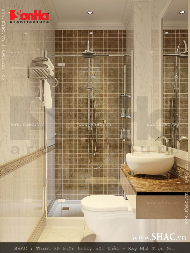 Phòng WC hiện đại tiện nghi