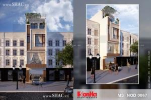 Nhà lô 4 tầng kiến trúc hiện đại