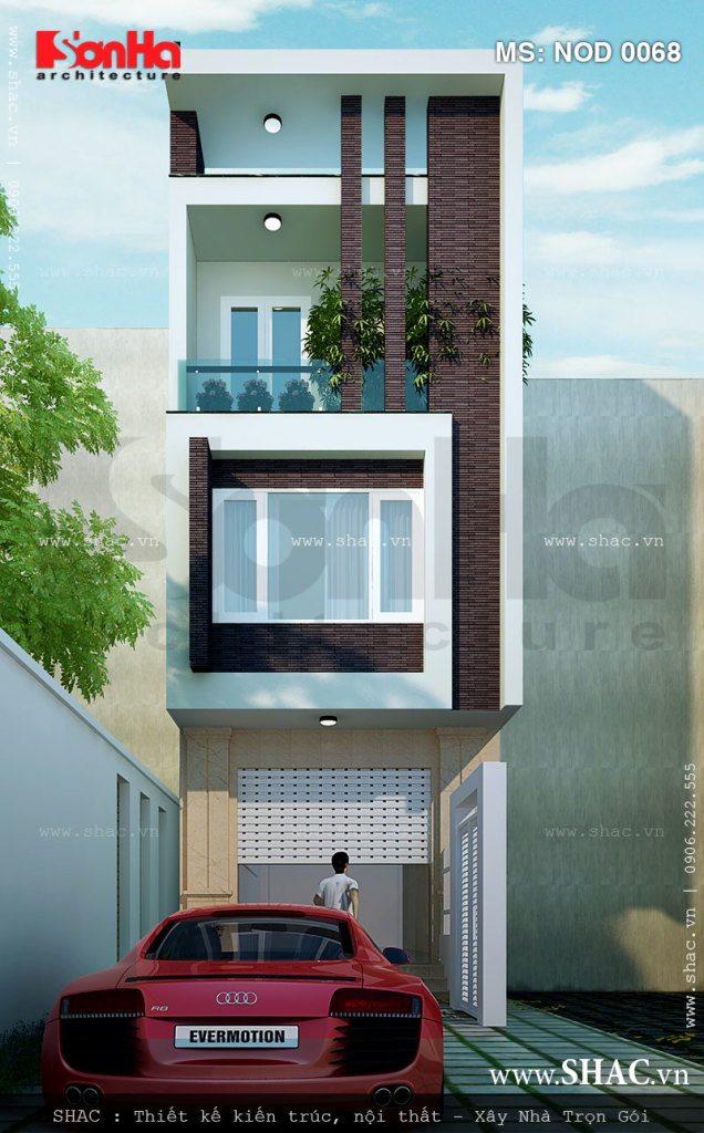 Nhà lô hiện đại 3 tầng đẹp