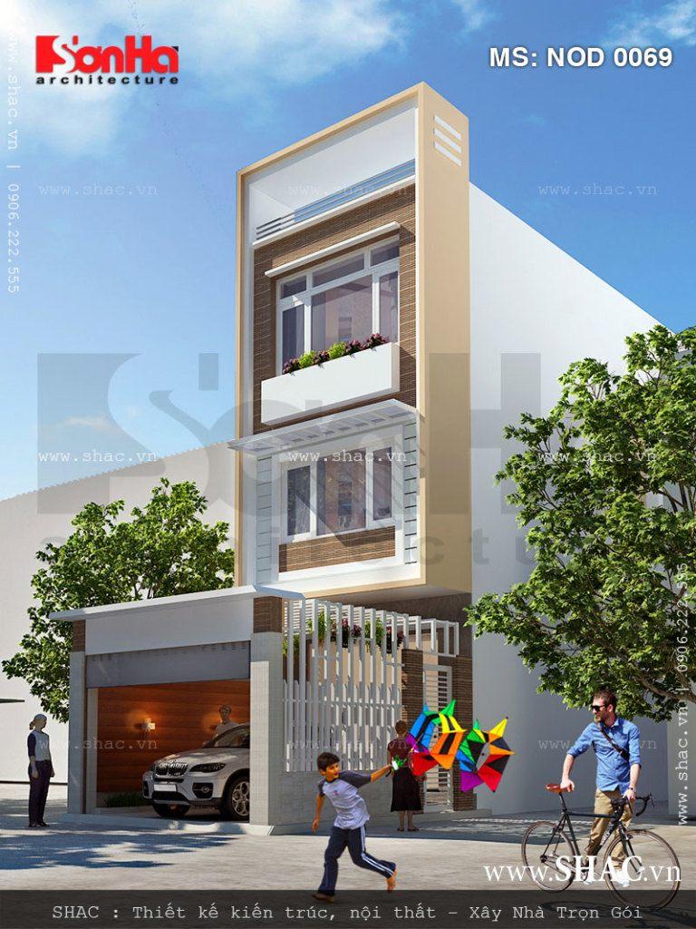 Nhà lô phố hiện đại 3 tầng