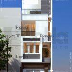 Nhà phố 4 tầng hiện đại