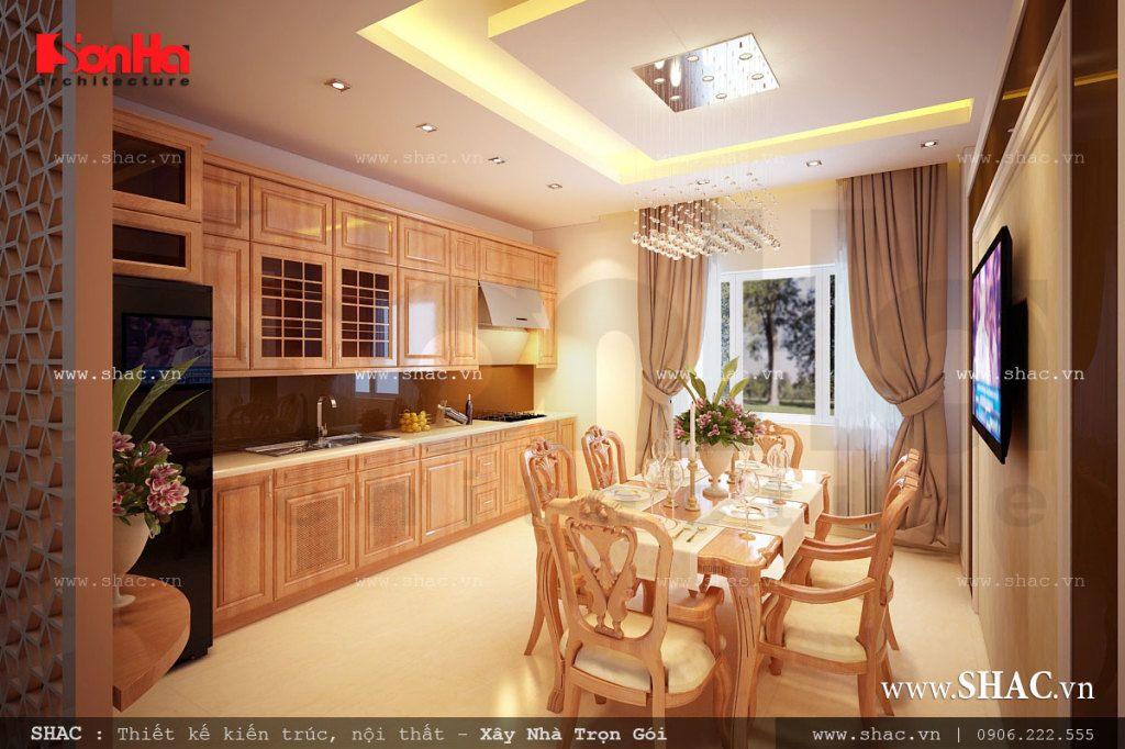 Phòng ăn đẹp với nội thất gỗ