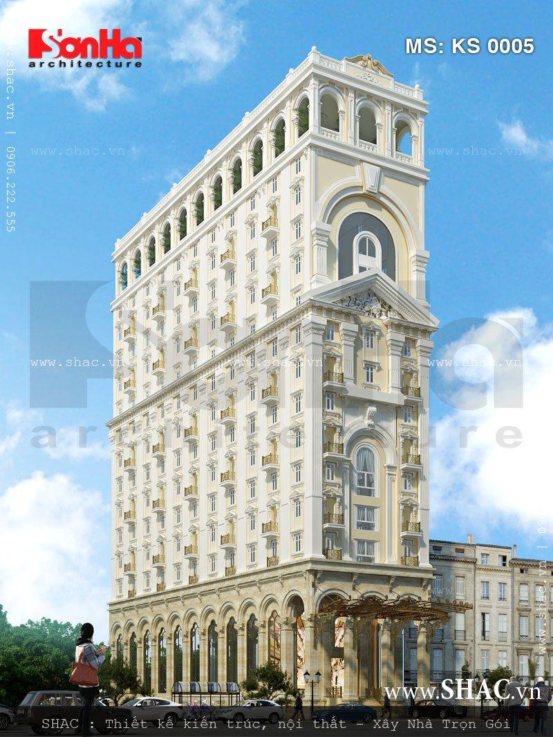 Phương án 2 phối cảnh khách sạn 17 tầng