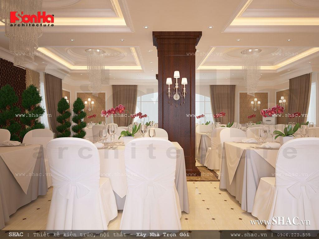 Phòng ăn tầng 7 sang trọng