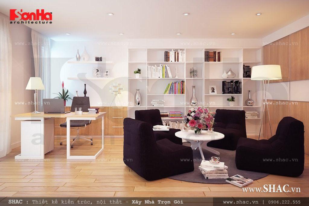 Thiết kế phòng đọc sách và làm việc