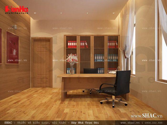 Thiết kế phòng làm việc, phòng nghiệp vụ của công trình khách sạn tiêu chuẩn 2 sao