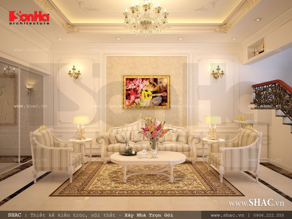 Phòng khách tầng 1