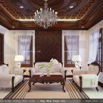 Nội thất gỗ cho phòng khách cổ điển