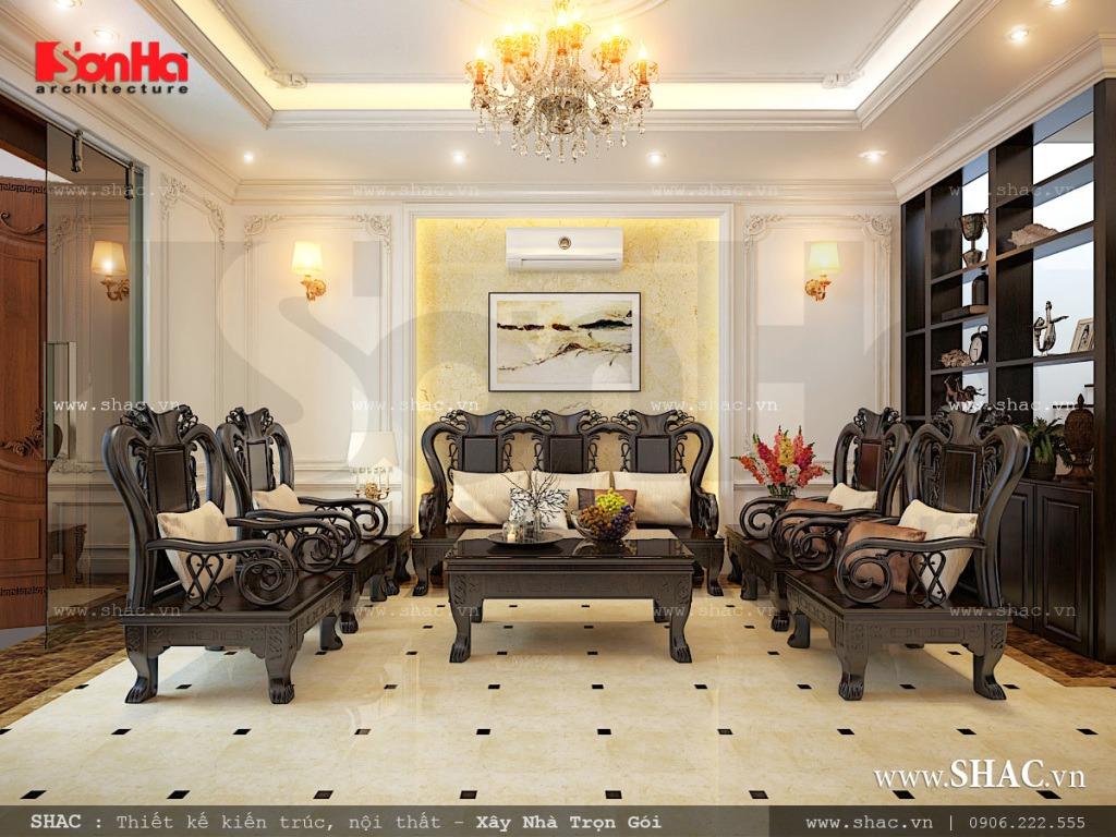 Thiết kế phòng khách sang trọng