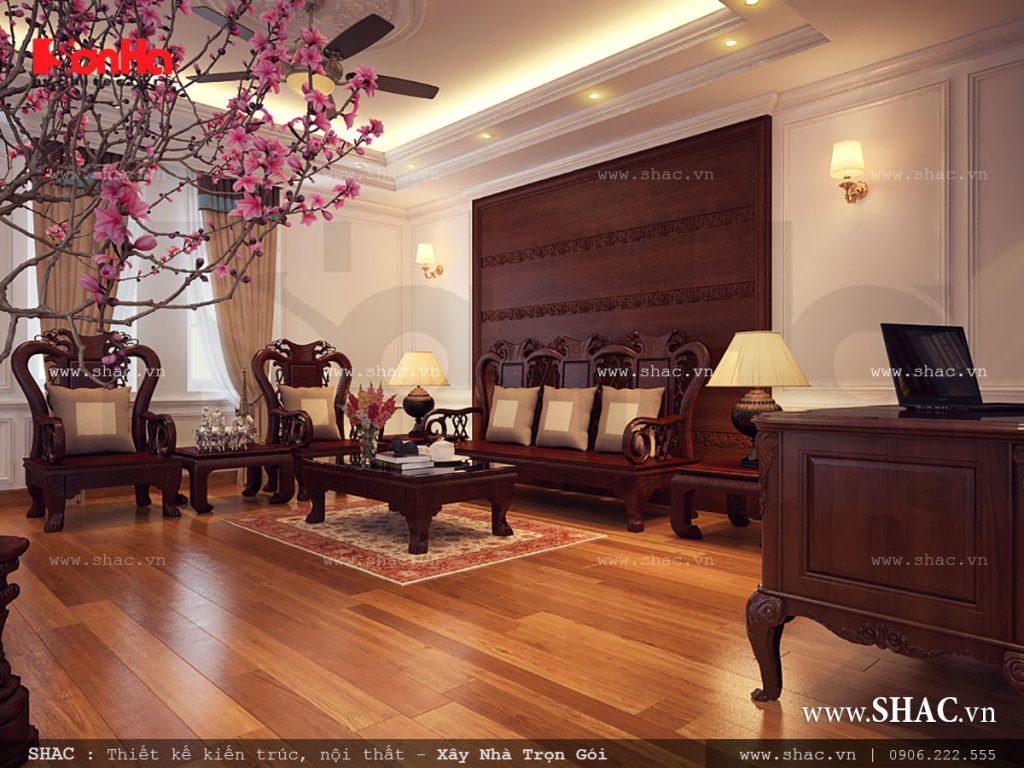 Phòng khách cổ điển sang trọng