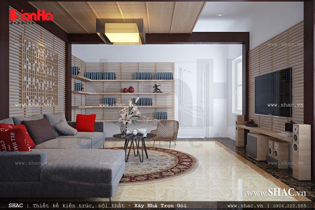Thiết kế phòng khách tầng 3