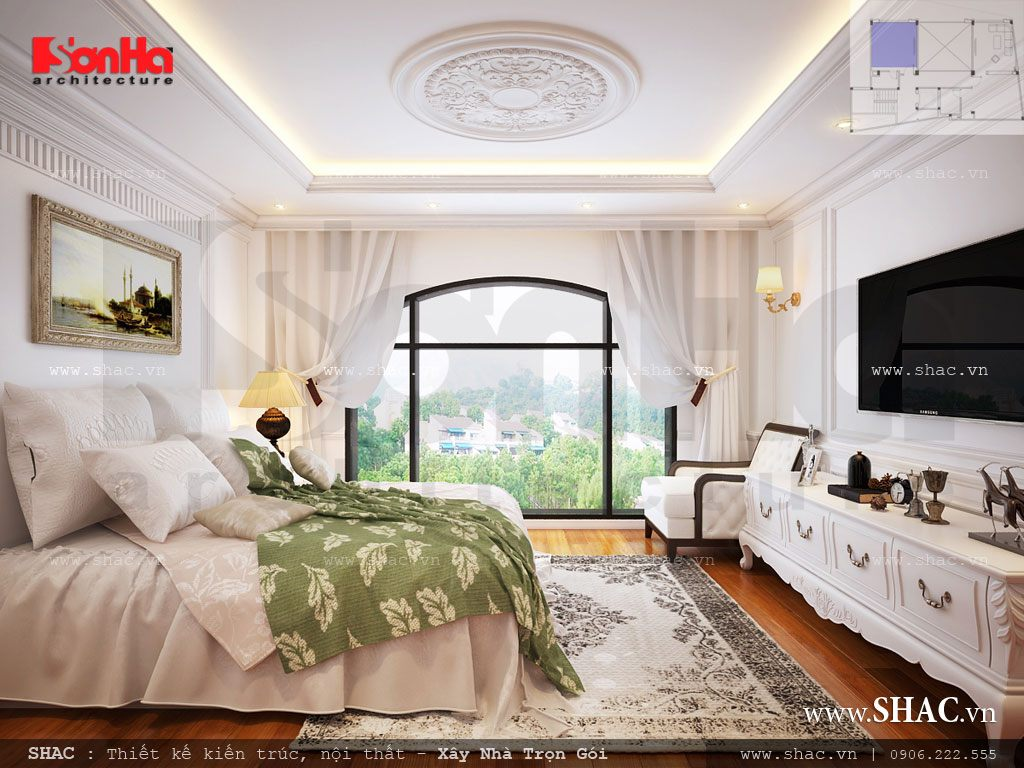 Thiết kế phòng ngủ phong cách Pháp