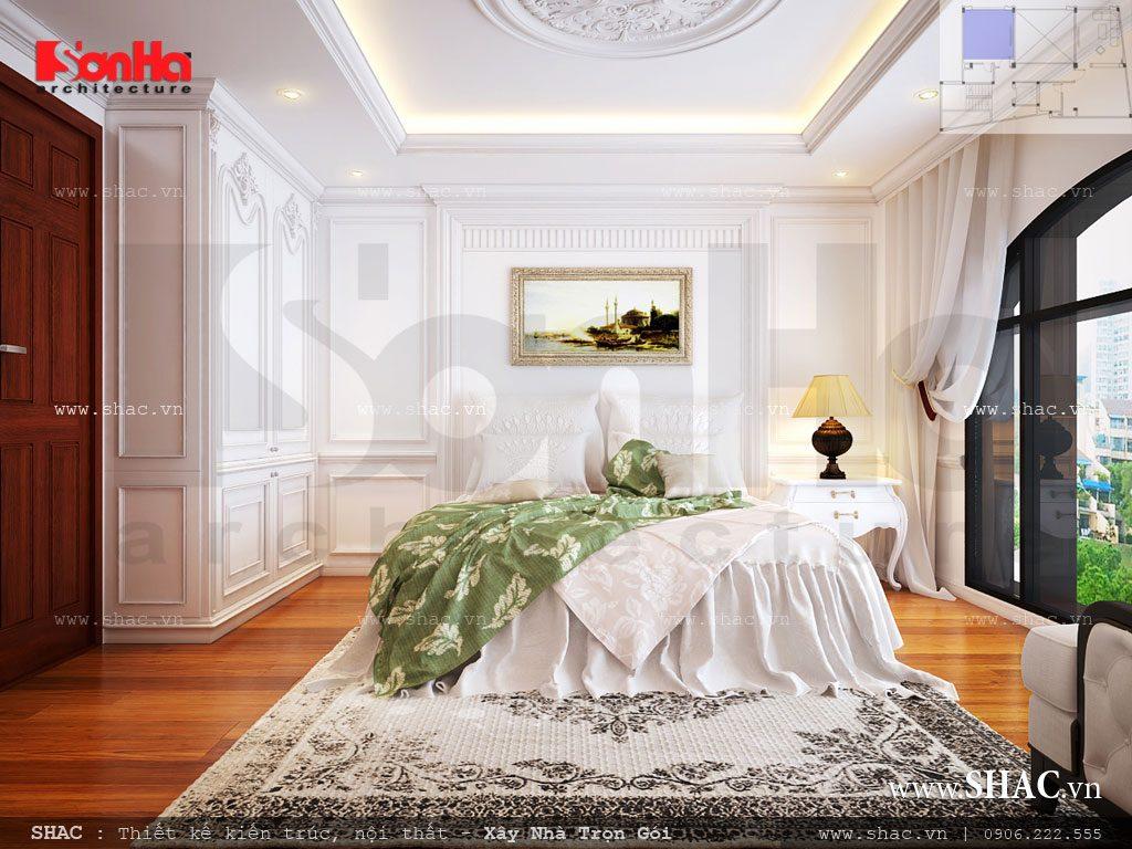 Thiết kế phòng ngủ Pháp sang trọng