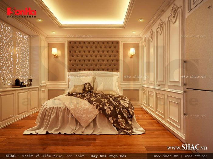 Thiết kế nội thất phòng ngủ khách sạn tiêu chuẩn 3 sao hạng sang rất được chủ đầu tư yêu thích