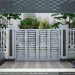 Sân cổng nhà ống