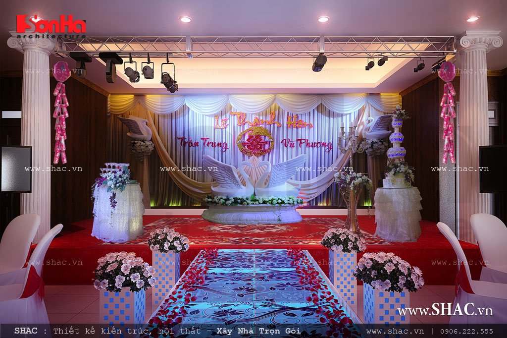 Sân khấu tổ chức tiệc cưới