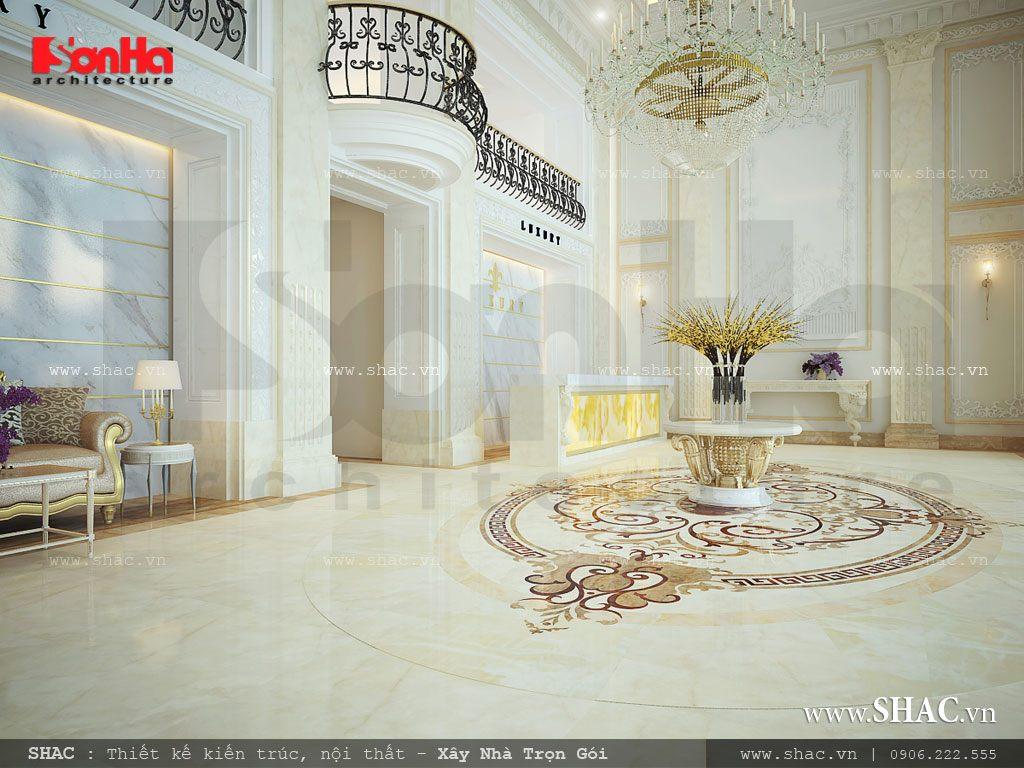Thiết kế sảnh chính khách sạn
