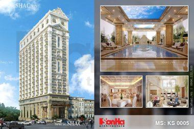 Thiết kế khách sạn 17 tầng tại Đà Nẵng