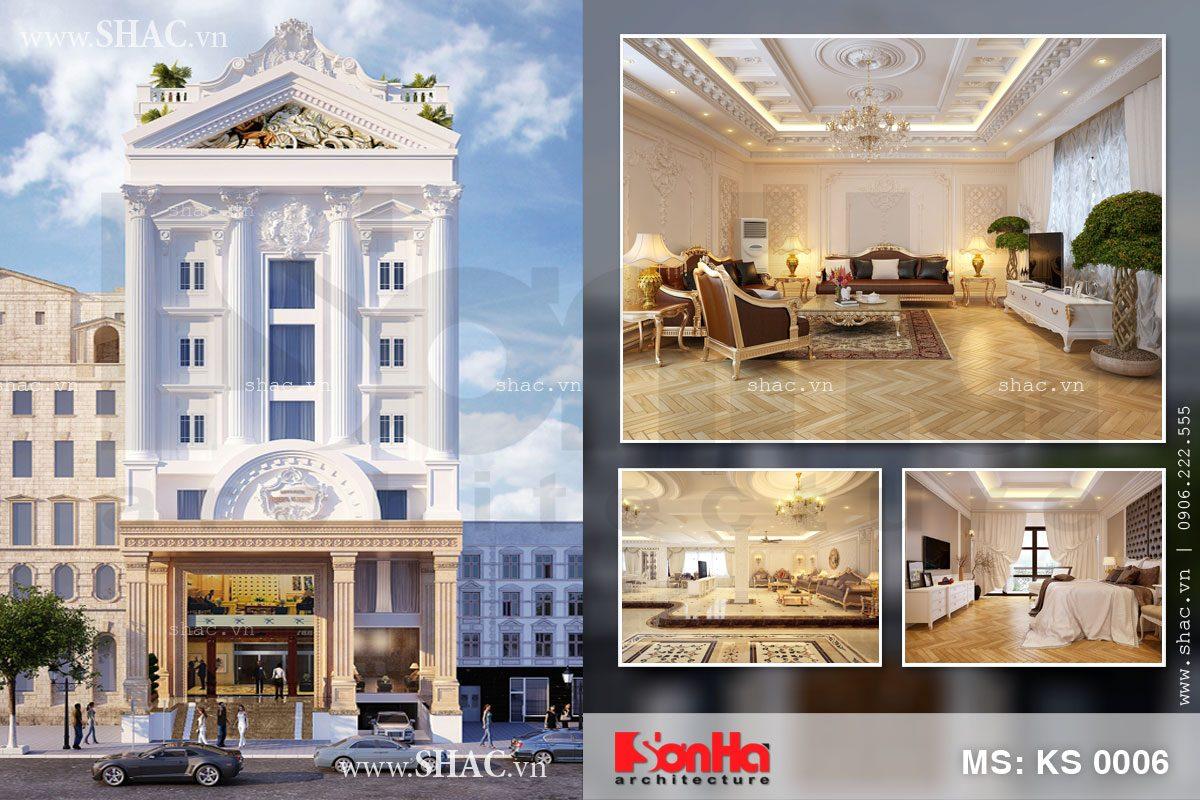 Thiết kế khách sạn 7 tầng tiêu chuẩn 2 sao
