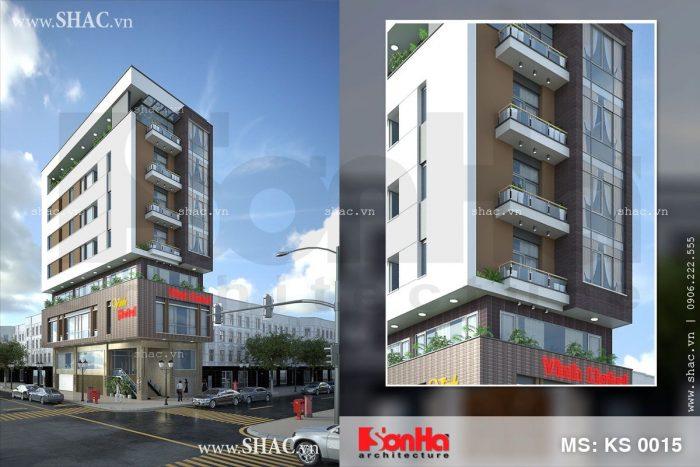 Thiết kế khách sạn 8 tầng phong cách hiện đại