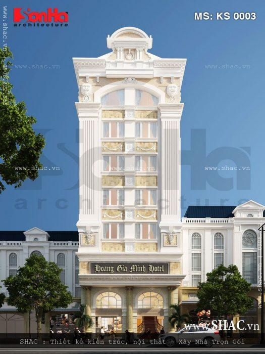Thiết kế khách sạn kiến trúc Pháp 3 sao - ks 0003