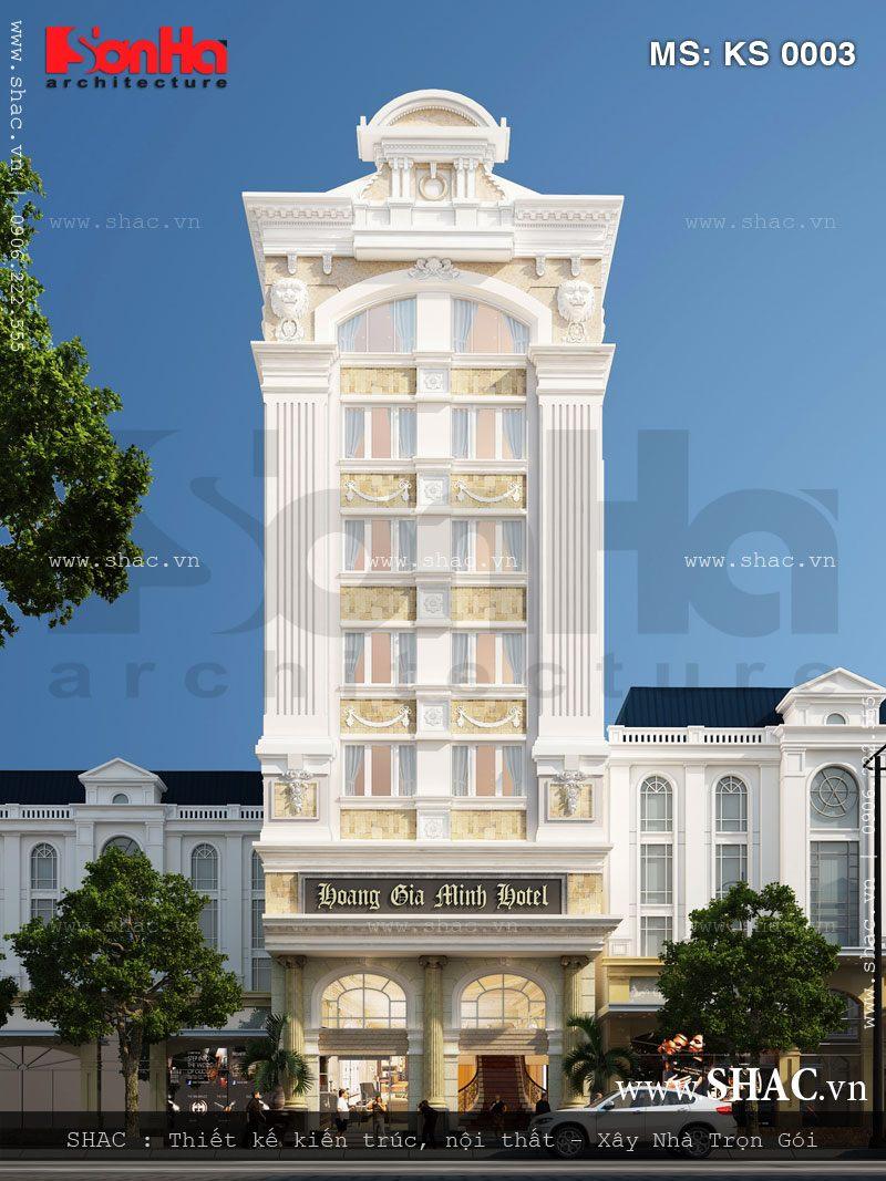 Mẫu khách sạn kiểu Pháp được thiết kế ấn tượng và bắt mắt tiêu chuẩn 3 sao