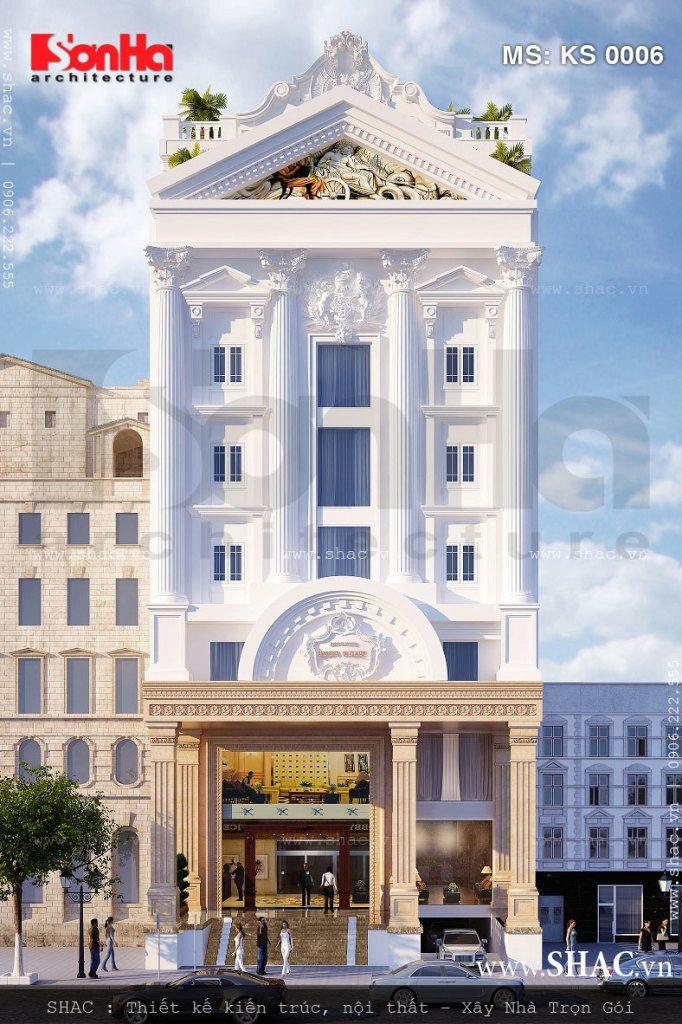 Kiến trúc đẹp của mẫu thiết kế khách sạn mini