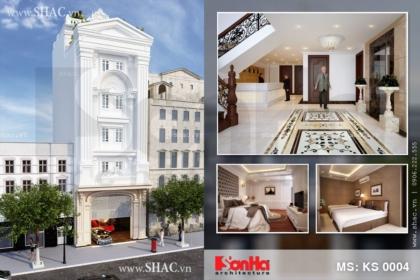 Thiết kế khách sạn mini 5 tầng KS 0004
