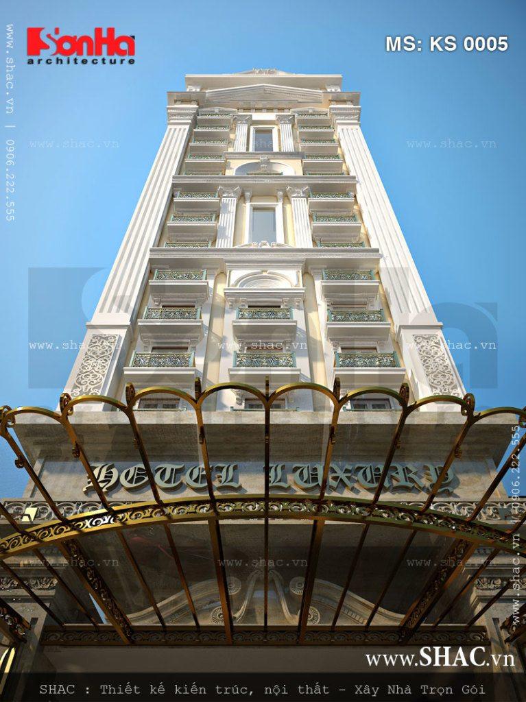 kiến trúc khách sạn 17 tầng