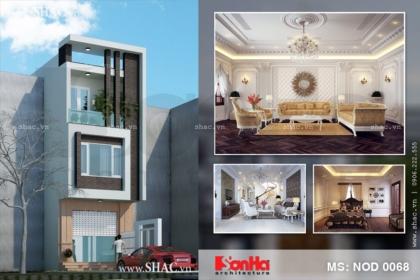 Thiết kế nhà lô 3 tầng hiện đại
