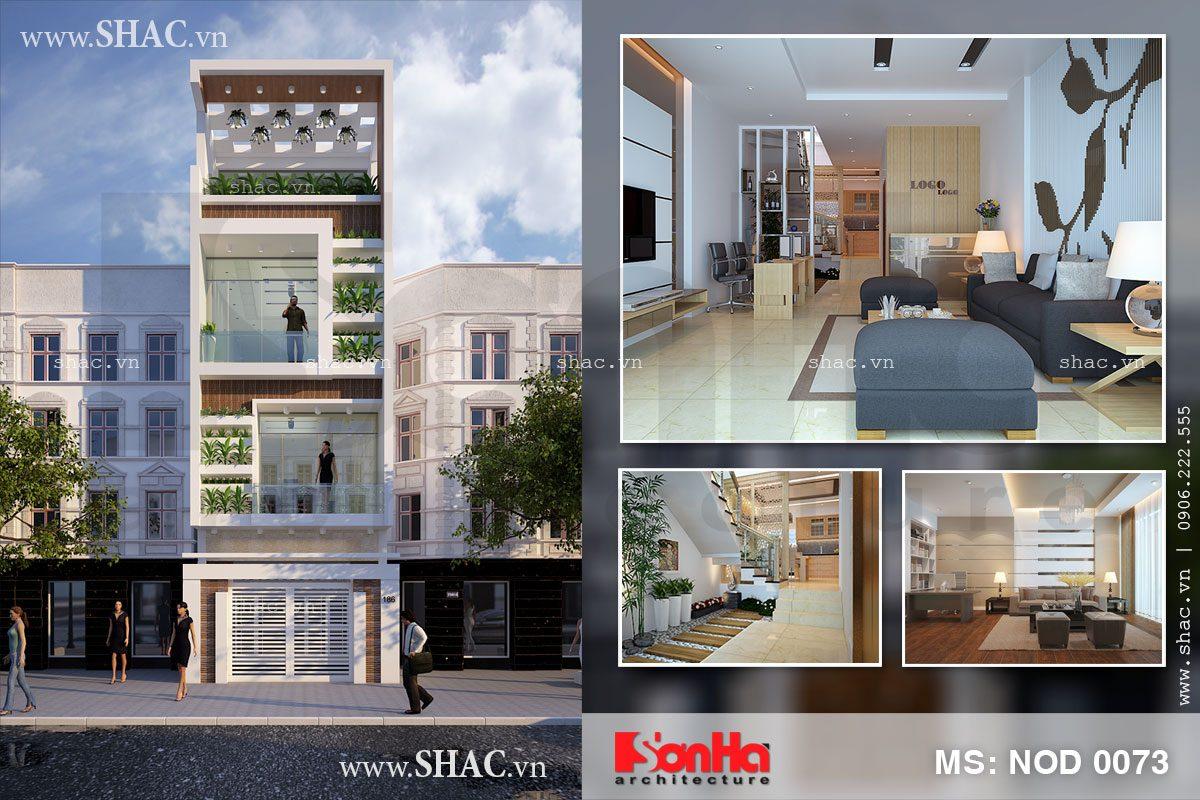 Thiết kế nhà ở kết hợp văn phòng công ty - NOD 0073 1