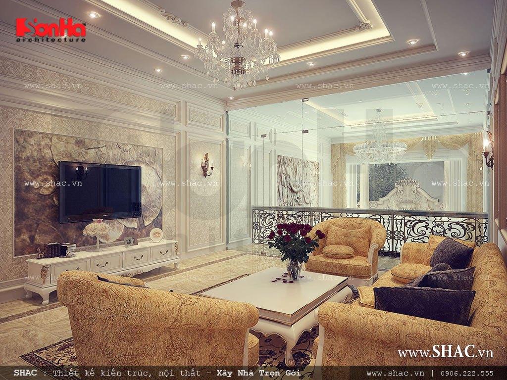 Phòng khách tầng lửng