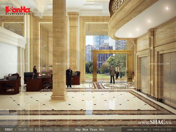 Thiết kế sảnh lễ tân khách sạn
