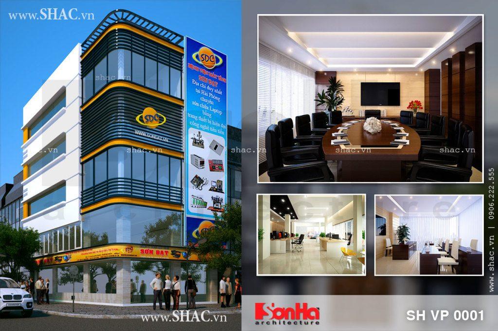 Thiết kế tòa nhà văn phòng công ty Sơn Đạt