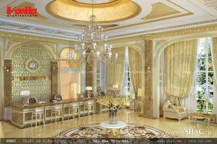 Thiết kế nội thất đại sảnh tầng 1 khách sạn