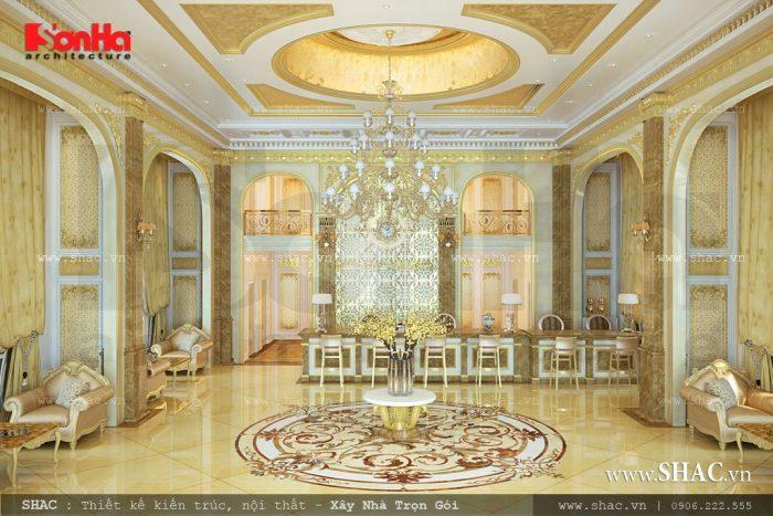 Thiết kế sảnh khách sạn tiêu chuẩn 4 sao thể hiện phong thái quyền quý tại TP. Đà Nẵng