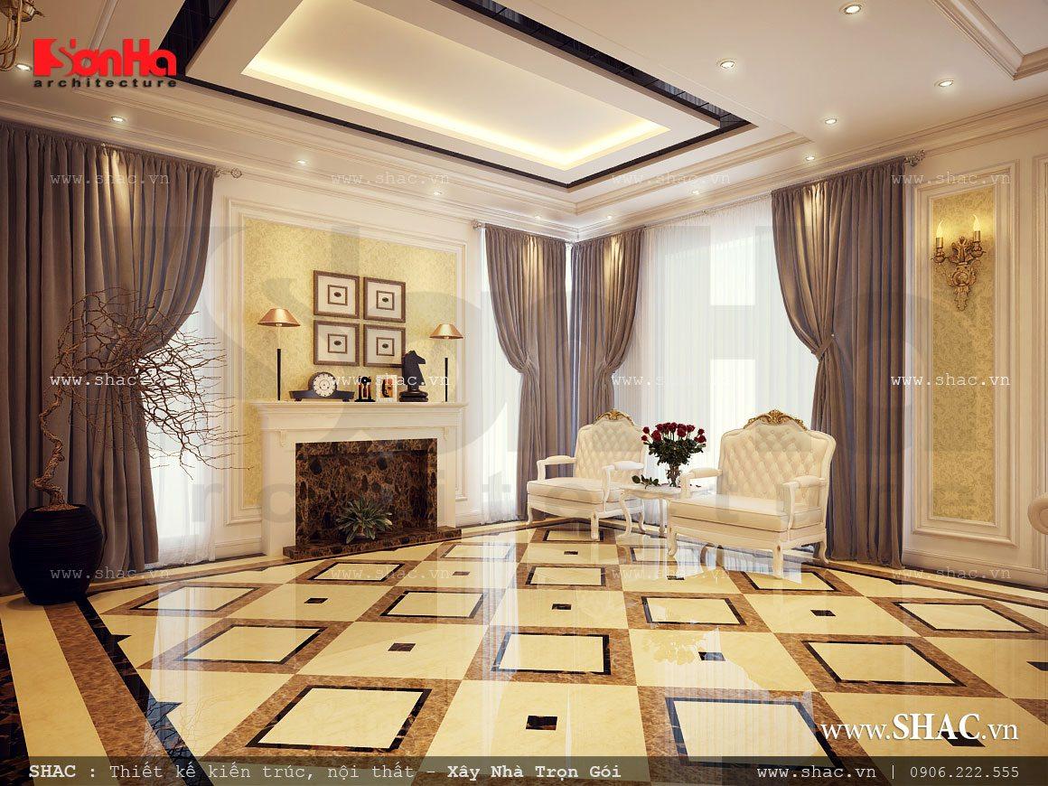 Biệt thự 3 tầng mái chéo phong cách hiện đại - SH BTD 0027 13