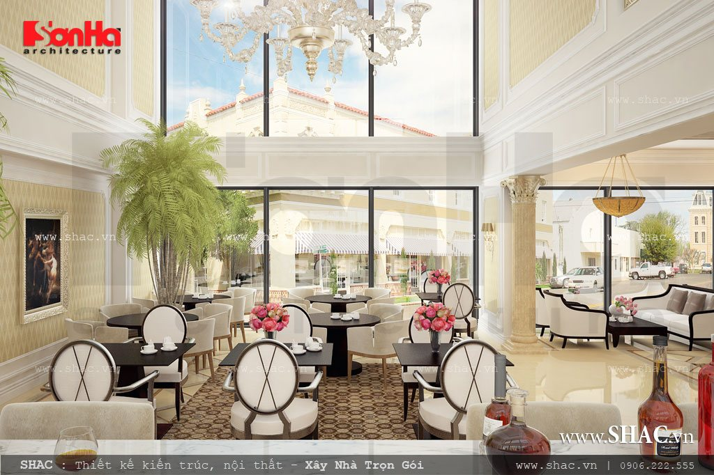 Khu cafe khách sạn 17 tầng